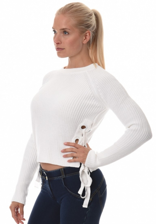 Lace Up Armour Sweater