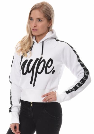 HYPE Taped Script Crop Hoodie